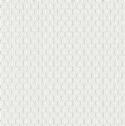Lewis & Irene - City Nights - 6032 - Silver (Metallic) on White Geometric - A294.1 - Cotton Fabric